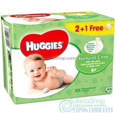 Влажные салфетки 2+1 Huggies Natural Care 168 шт