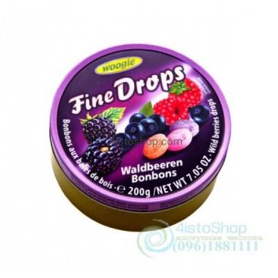 Леденцы Woogie Fine Drops Waldbeeren Bonbons Ягодный Микс 200 г