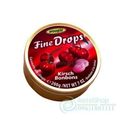 Леденцы Woogie Fine Drops Kirsch Bonbons со вкусом вишни 200 г