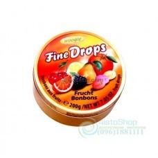 Леденцы Woogie Fine Drops Frucht Bonbons Фруктовый Микс 200 г