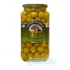 Оливки Bravo зеленые с косточками 1000 г