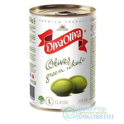 Оливки зелёные с косточкой Diva Oliva 300г