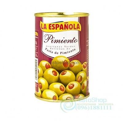 La Española зелёные оливки фаршированные перцем 300 г