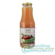 Сок яблочно-черносмородиновый Дари Поділля неосветленный пастеризованный 1л