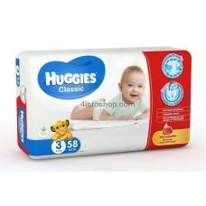 Подгузники Huggies 3 Classic 4-9 кг 58 шт
