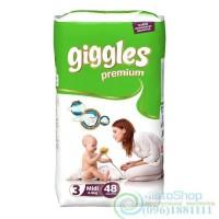 Подгузники Giggles 3 Premium Jumbo Packs Midi от 4 до 9 кг 48 шт