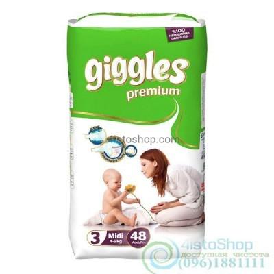 Купить подгузники Giggles 3 Премиум Midi от 4 до 9 кг 48 шт