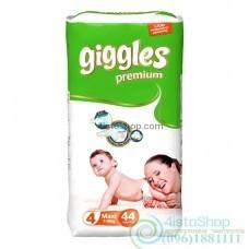 Подгузники Giggles 4 Premium Jumbo Packs Maxi 7-18 кг 44 шт