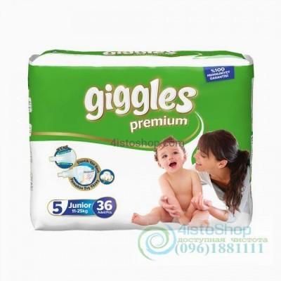 Купить подгузники Giggles 5 Премиум Junior 11 - 25 кг 36 шт