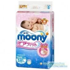 Подгузники Moony S 4-8 кг в упаковке 81 шт