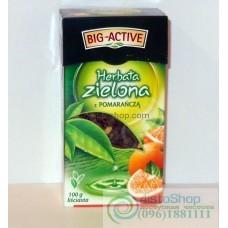 Чай зеленый Big-Active апельсин листовой 100г