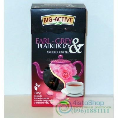 Чай черный Big-Active лепестки роз 100г