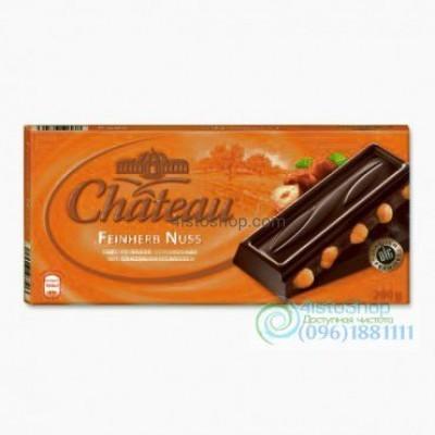 Шоколад чёрный с лесным орехом Chateau Feinherb Nuss 200г