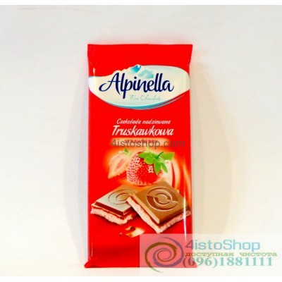 Шоколад молочный Alpinella клубника