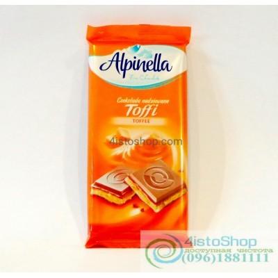 Шоколад молочный Alpinella с карамельной начинкой