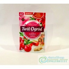 Чай фруктовый Twoj Ogrod клюква, имбирь, ревень 40 пак.
