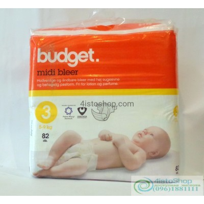Подгузники Budget 3 5-9 кг 82 шт