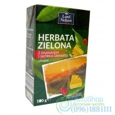 Чай зеленый Lord Nelson Herbata Zielona ананас гранат листовой 100г