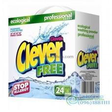 Стиральный порошок для белого и цветного белья Clever Free 1,68 кг