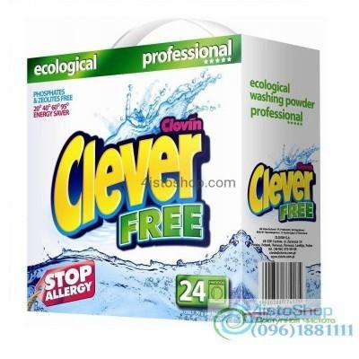 Стиральный порошок Clever FREE 1,68 кг