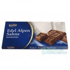 Шоколад молочный Karina Edel Alpen Sahne 200 г