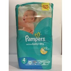 Подгузники Pampers Active Baby - Dry 4 7-14кг 58шт