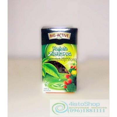 Чай зеленый Big-Active лепестки цветов кактуса листовой 100г