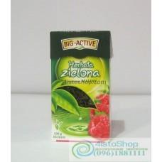 Чай зелёный Big-Active малина листовой 100г