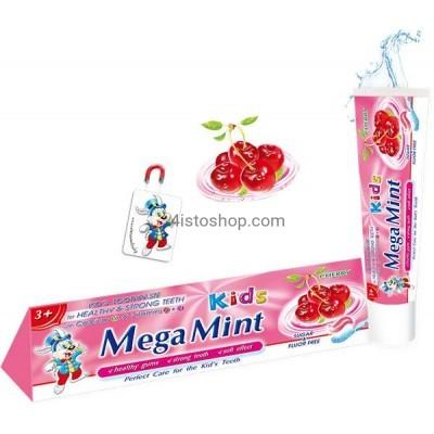 Детская зубная паста Mega Mint вишня 50мл