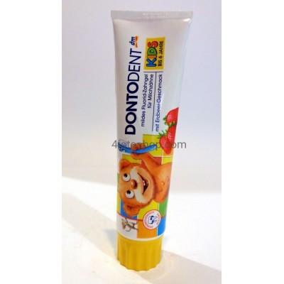 Зубная паста Dontodent Kids до 6 лет со вкусом клубники 100 мл