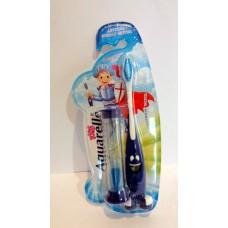 Детская зубная щетка Aquarelle и песочные часы синяя