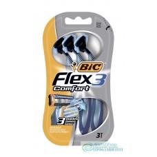 Набор одноразовых бритвенных станков Bic 3 Flex Comfort 3 шт.