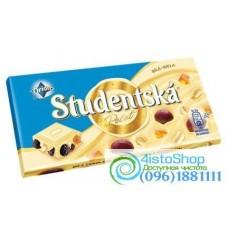Шоколад белый Studentska Pecet изюм арахис 180г