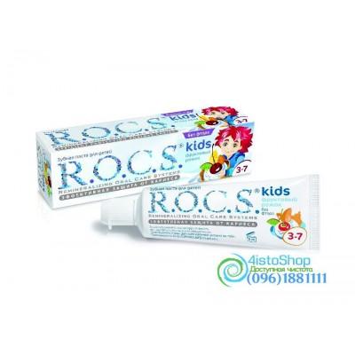 Зубная паста детская Фруктовый рожок R.O.C.S. со вкусом мороженого без фтора 45г