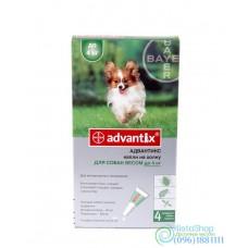 Bayer Advantix защита от блох и клещей для собак до 4кг 1 пипетка