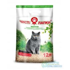 Наполнитель для кошачьего туалета Чистые лапки стандарт 3 кг 12л