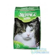 Наполнитель для кошачьего туалета Мурка с ароматом лаванды 2 кг мелкий