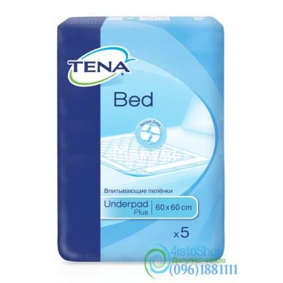 Пеленки для взрослых и детей Tena Bed Plus 60х60 см 5 шт