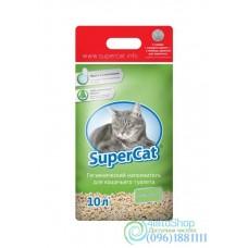 Наполнитель для кошачьего туалета SuperCat стандарт с ароматизатором 3 кг зелёный