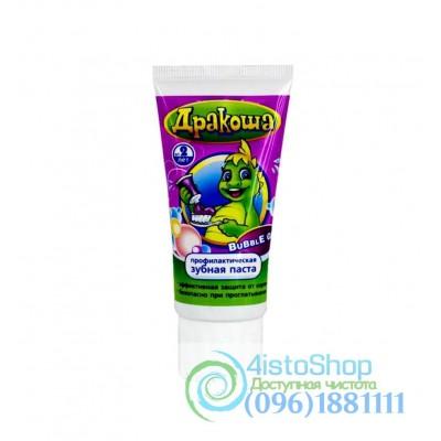 Дракоша Детская зубная паста Bubble Gum 60 мл