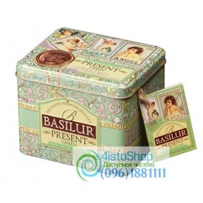 Чай зеленый Basilur Зеленый подарок ж/б 100г