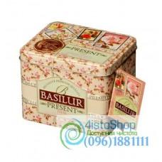 Чай зеленый Basilur Розовый подарок ж/б 100г