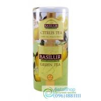 Чай зеленый Basilur 2в1 Зеленый + Цитрус ж/б 125г
