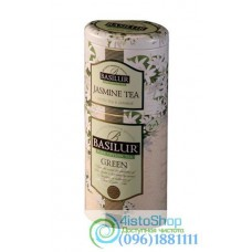 Чай зеленый Basilur 2в1 Зеленый + Жасмин ж/б 125г