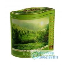 Чай зеленый Basilur Лист Цейлона Раделла ж/б 125г