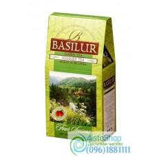 Чай зеленый Basilur Четыре сезона Летний с земляникой 100г картон