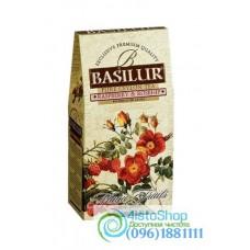 Чай черный Basilur Малина и шиповник 100г картон