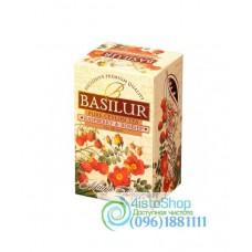 Чай черный Basilur Малина и шиповник (картон) 20пак*2г