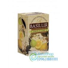 Чай черный Basilur Лимон и лайм (картон) 20пак*2г