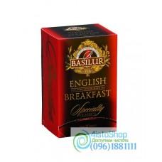 Чай черный Basilur Избранная классика Английский завтрак пакетированный 20